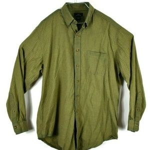 Brooks Brothers 346 Mens Button Front Green Large